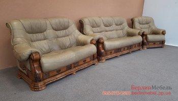 Двух местный кожаный диван
