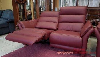 Двухместый кожаный диван реклайнер