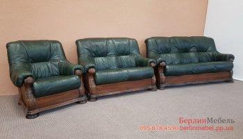 Кожаный комплект мягкой мебели