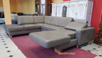 Кожаный п-образный угловой диван