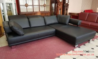 Кожаный угловой диван Хай Тек