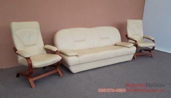 Набор мягкой кожаной мебели