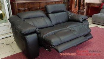 Новый кожаный диван электрореклайнер
