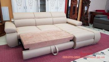 Новый раскладной кожаный диван