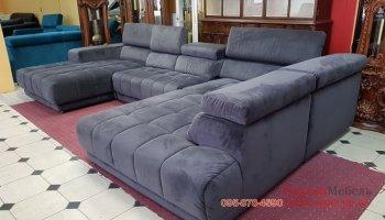 П-образный угловой диван из ткани