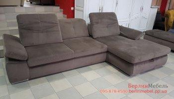 Угловой диван из ткани велюр