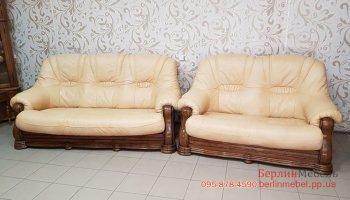 Кожаный комплект мягкой мебели 3+2