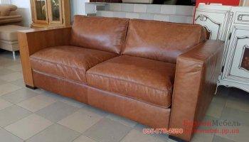 Новый кожаный, раскладной диван