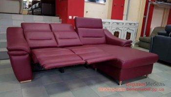 Кожаный угловой диван электрорелакс