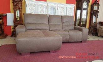 Угловой диван из ткани