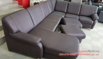 П-образный диван и 2 пуфа