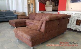 П-образный диван из ткани