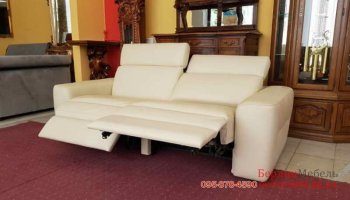 Новый кожаный мягкий диван релакс