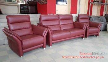 Новый кожаный комплект мягкой мебели