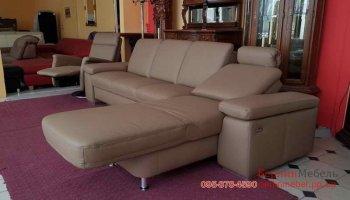 Угловой диван с креслом реклайнер