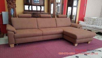 Угловой диван в ткани