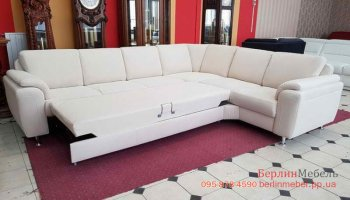 Большой угловой диван из ткани