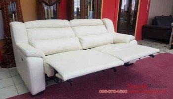 Кожаный диван с функцией электрорелакс