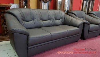 Кожаный комплект мебели 3-2-1