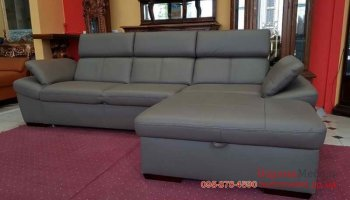 Новый кожаный угловой диван