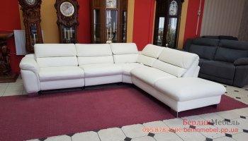 Фирменный кожаный угловой диван HUKLA