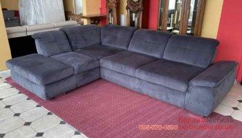 Угловой велюровый диван