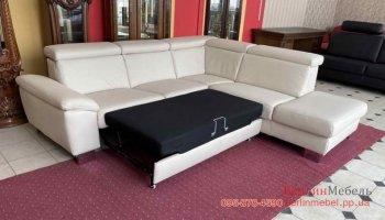 Кожаный раскладной диван POLINOVA