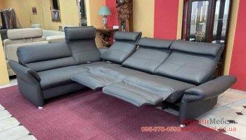 Кожаный диван реклайнер HUKLA