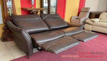 Кожаный диван электрореклайнер HUKLA
