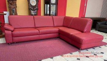 Кожаный угловой диван POLINOVA
