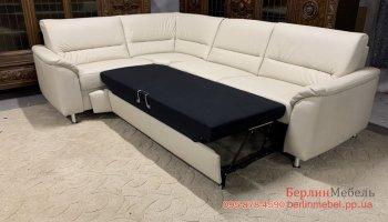 Классический кожаный угловой диван