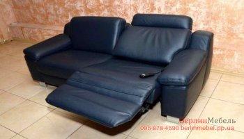 Кожаный диван электрореклайнер