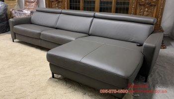 Кожаный диван реклайнер фирмы Hukla