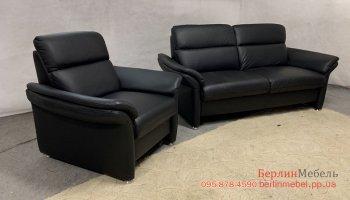 Кожаный гарнитур диван, кресло