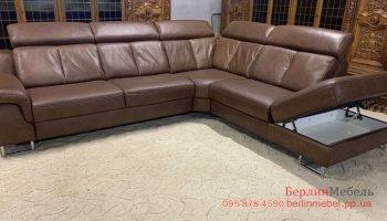 Кожаный угловой диван Inter Living