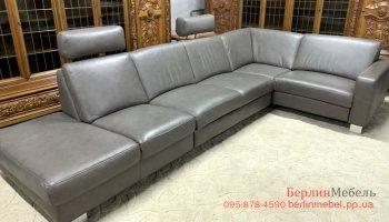 Кожаный угловой диван Полинова