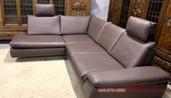 Кожаный угловой диван релакс