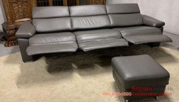 Мягкий кожаный диван Hukla.