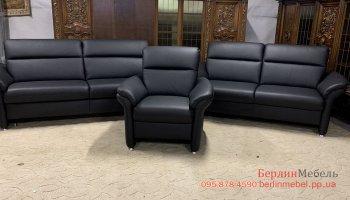 Набор мягкой мебели из кожи 3+2+1
