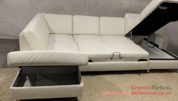 Раскладной кожаный диван Полинова