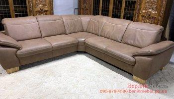 Угловой диван натуральный нубук