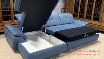 Угловой кожаный диван Megapol