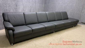 Кожаный большой мега диван