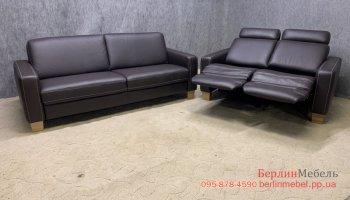 Набор кожаной мебели 3  + 2 реклайнер